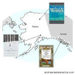Andrea Reads America Alaska book map on andreareadsamerica.com