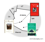 Map of books set in Arizona by Arizona authors on andreareadsamerica.wordpress.com