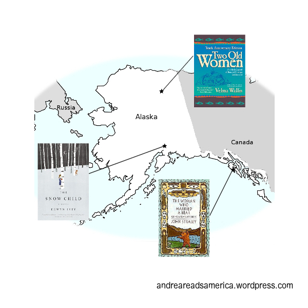 Andrea Reads America Alaska book map
