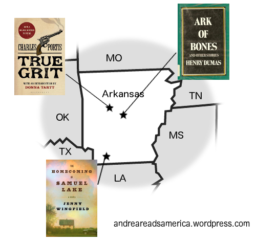 Andrea Reads America Arkansas Book Map