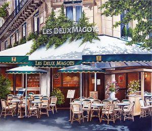 Les deux Magots painting by Houmeau