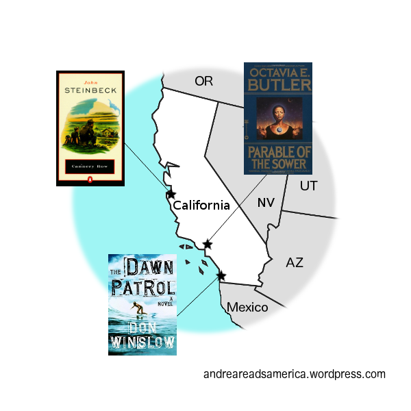 Andrea Reads America California Book Map