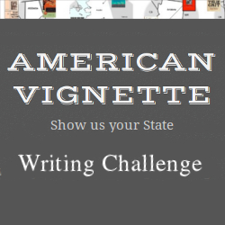 American Vignette Show Us Your State Writing Challenge badge on andreareadsamerica.com