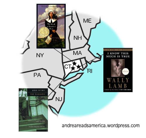 Andrea Reads America Connecticut book map