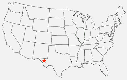 """Map: Texas, setting of """"Sunland"""" by Marla Lapore on andreareadsamerica.com"""