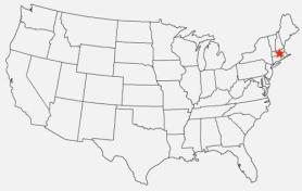 """Map: Massachusetts, setting of """"Smells Like Teen Spirit"""" creative nonfiction by Dina Honour on Andrea Reads America"""