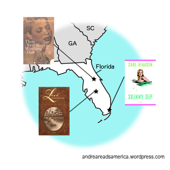 Andrea Reads America Florida Book Map