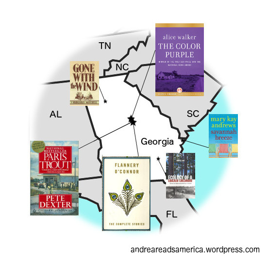 Andrea Reads America Georgia Book Map deluxe