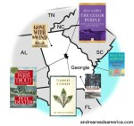 Map of books set in Georgia and written by Georgia authors