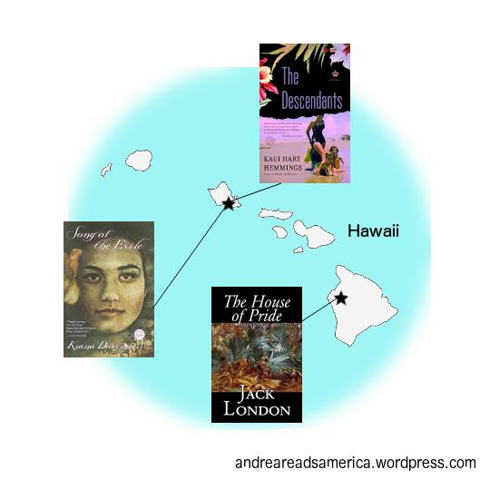 Andrea Reads America Hawaii Book Map