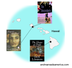map of books set in Hawaii on Andrea Reads America