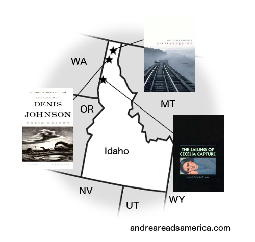 Andrea Reads America Idaho book map