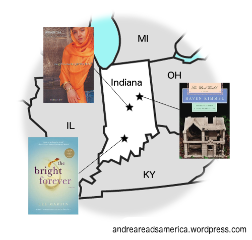 Andrea Reads America Indiana Book Map