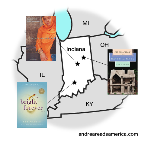 Map of books set in Indiana