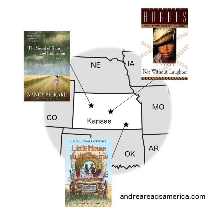 Map of books set in Kansas, USA
