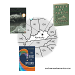 Map of three books set in Kentucky