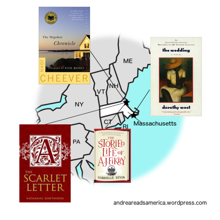 Andrea Reads America Massachusetts book map