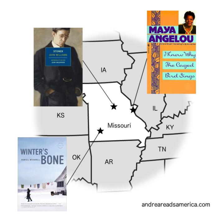 Andrea Reads America Missouri book map