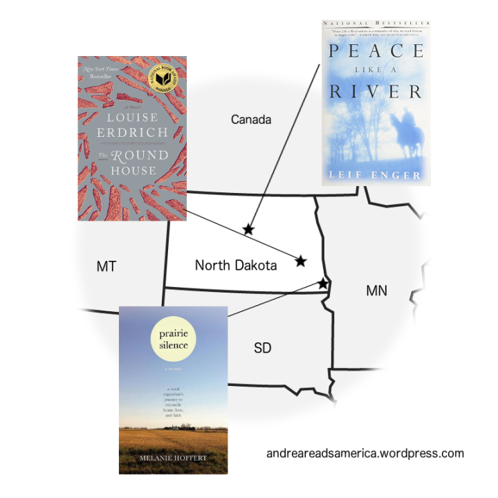 Andrea Reads America map of books set in North Dakota