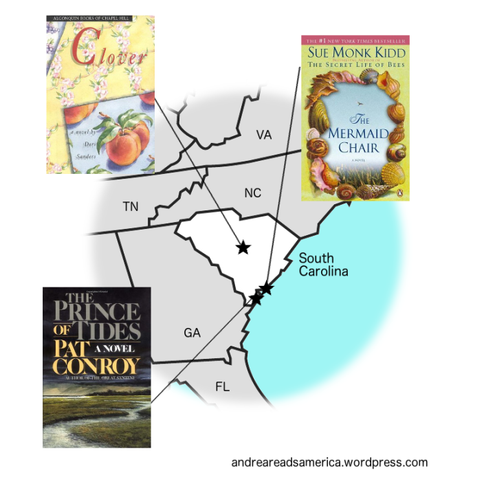 Map of books set in South Carolina