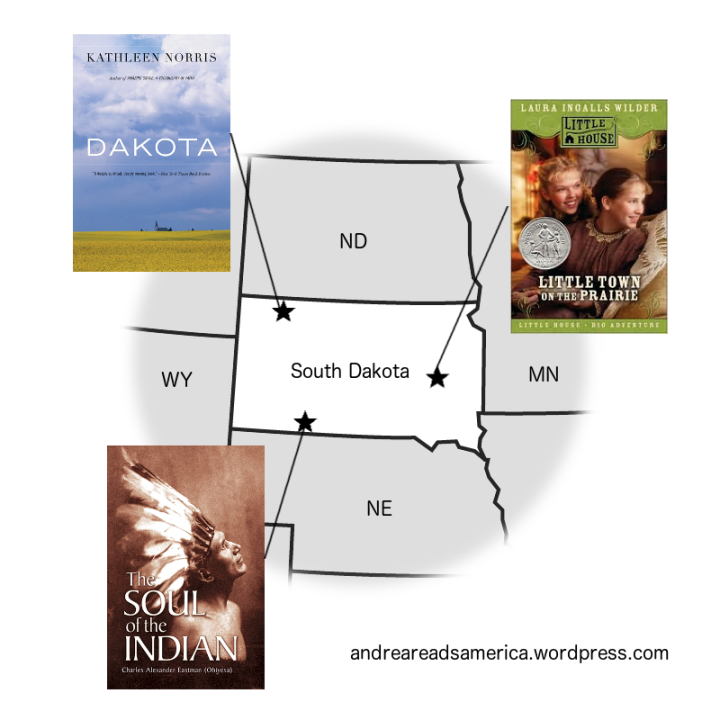 Map of books set in South Dakota