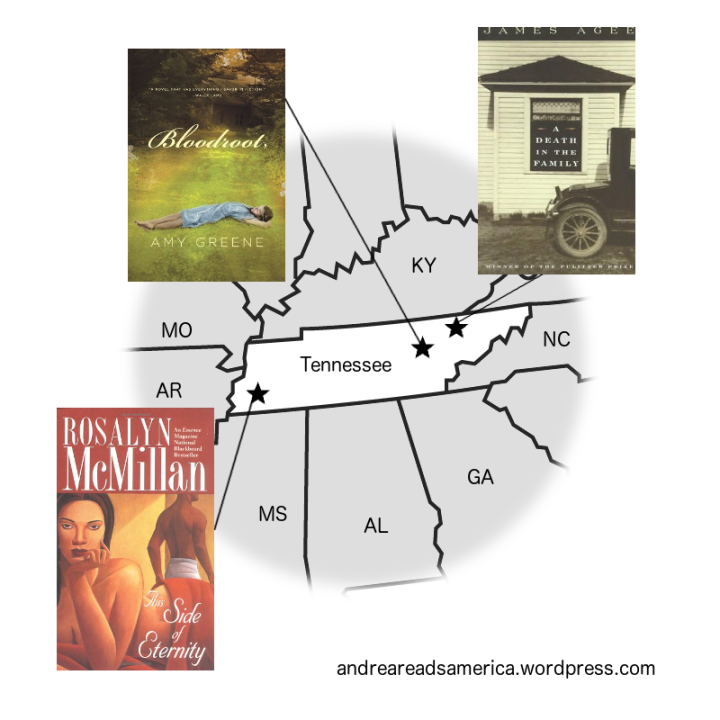 Map of books set in Tennessee