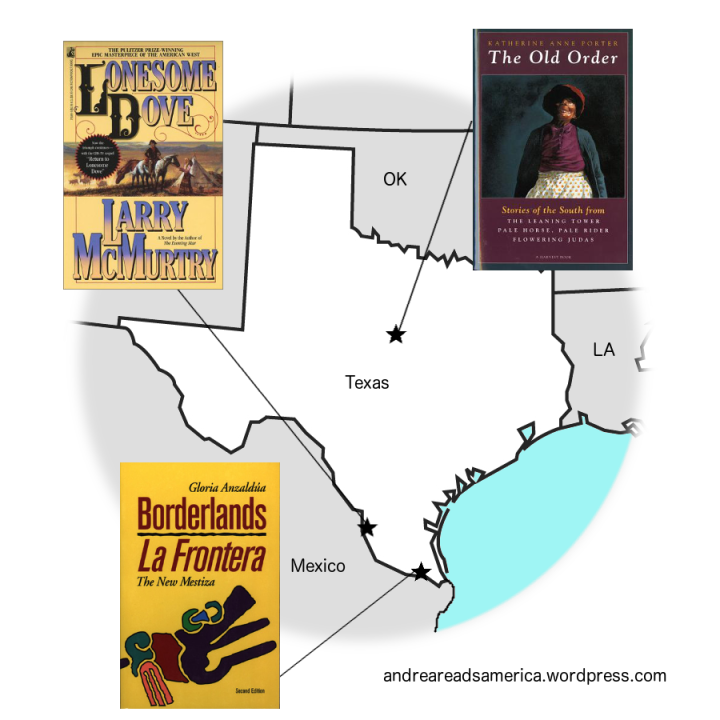 Map of books set in Texas